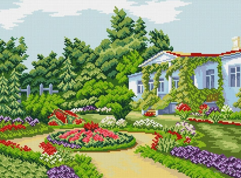 "Алмазная вышивка-мозаика ""Летний сад"""