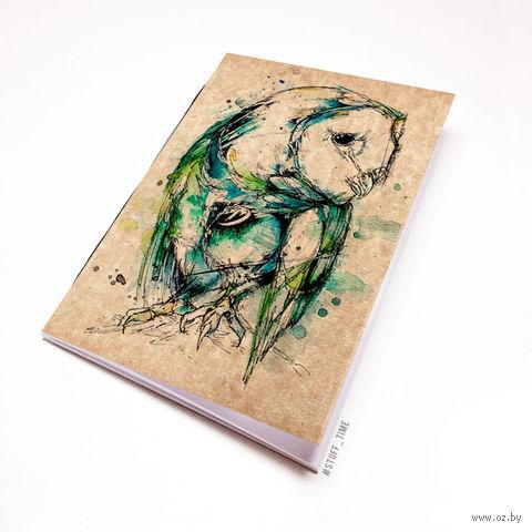 """Блокнот крафт """"Сова"""" (А7; арт. 774) — фото, картинка"""