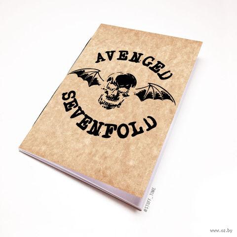 """Блокнот крафт """"Avenged Sevenfold"""" (А5; арт. 043)"""