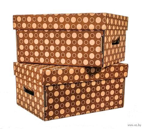 Набор коробок (2 шт.; коричневый)