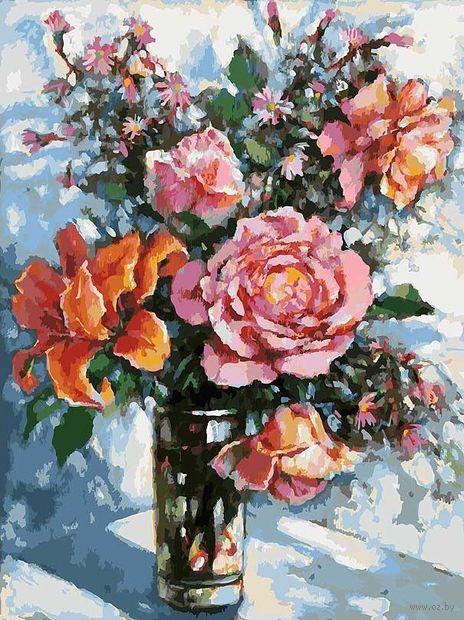 "Картина по номерам ""Натюрморт с розами"" (400х300 мм) — фото, картинка"