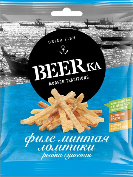 "Минтай сушеный ломтиками ""BEERka"" (25 г) — фото, картинка"