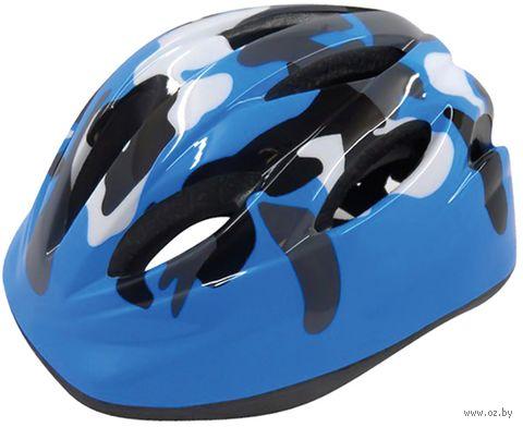 """Шлем велосипедный детский """"WT-021"""" (чёрно-синий) — фото, картинка"""