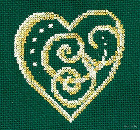 """Вышивка крестом """"Сердце"""" (120х120 мм) — фото, картинка"""