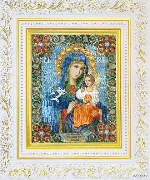 """Вышивка бисером """"Икона Божьей Матери. Неувядаемый цвет"""" (160х200 мм) — фото, картинка"""