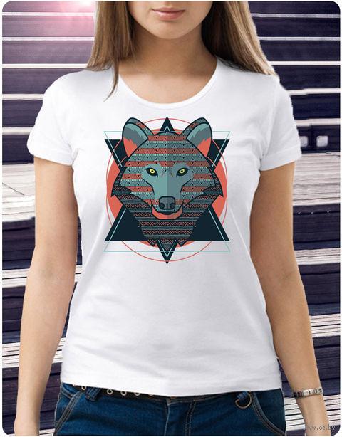 "Футболка женская ""Волк"" (размер 46; арт. 28) — фото, картинка"