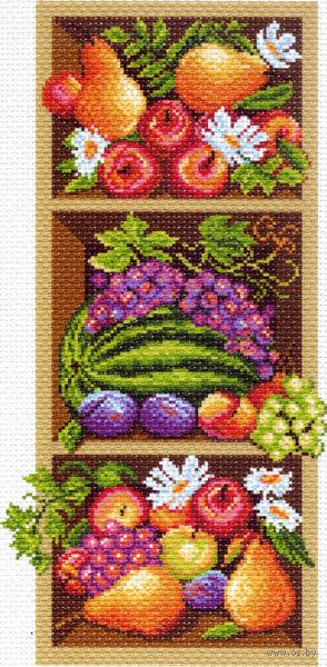 """Канва с нанесенным рисунком """"Полка с фруктами"""""""