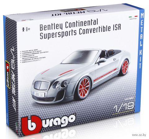 "Модель машины ""Bburago. Bentley Continental Supersports Convrtible ISR"" (масштаб: 1/19)"
