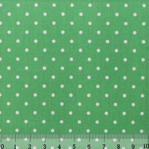 """Ткань """"Горошек"""" (светло-зеленая) — фото, картинка"""