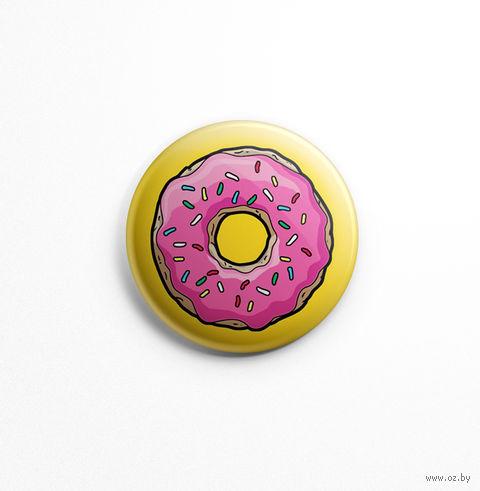 """Значок """"Симпсоны. Пончик"""" (арт. 484) — фото, картинка"""