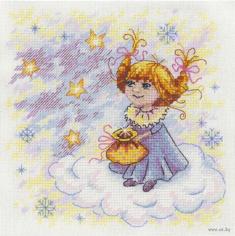 """Вышивка крестом """"Рождественский ангел"""" (170х170 мм) — фото, картинка"""