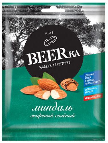 """Миндаль жареный соленый """"BEERka"""" (40 г) — фото, картинка"""