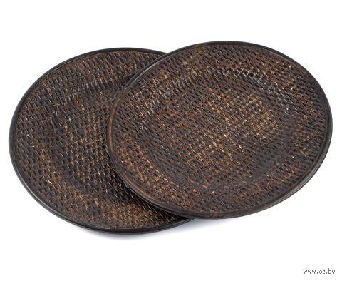 Набор тарелок декоративных (2 шт, 30/28 cм, дерево/пластмасса)