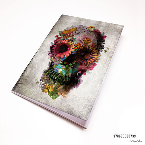 "Блокнот ""Череп из цветов"" (А7; арт. 739) — фото, картинка"