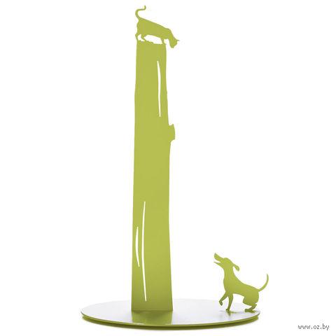 """Держатель для бумажных полотенец """"Dog vs. Cat"""" (зеленый)"""