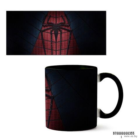 """Кружка """"Человек-паук"""" (355, черная)"""