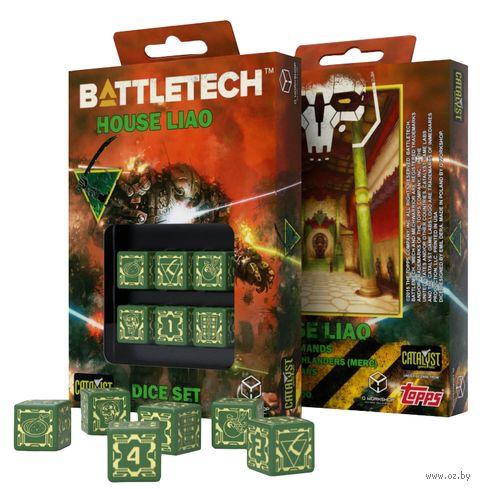 "Набор кубиков D6 ""Battletech. House Liao"" (6 шт.) — фото, картинка"
