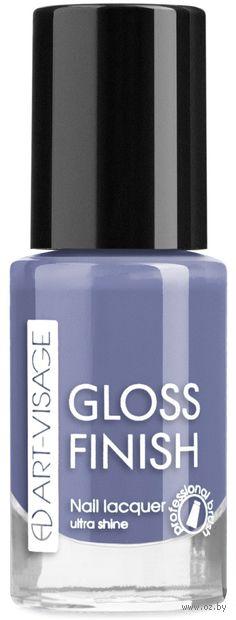 """Лак для ногтей """"Gloss Finish"""" тон: 129, голубика — фото, картинка"""