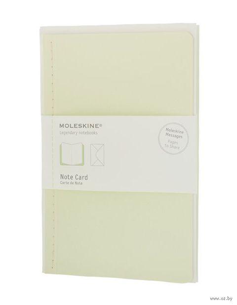 """Почтовый набор Молескин """"Note Card"""" с конвертом (большой; мягкая зеленая обложка)"""