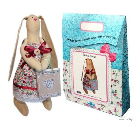 """Подарочный набор для шитья из ткани """"Кукла. Зайка Агата"""""""