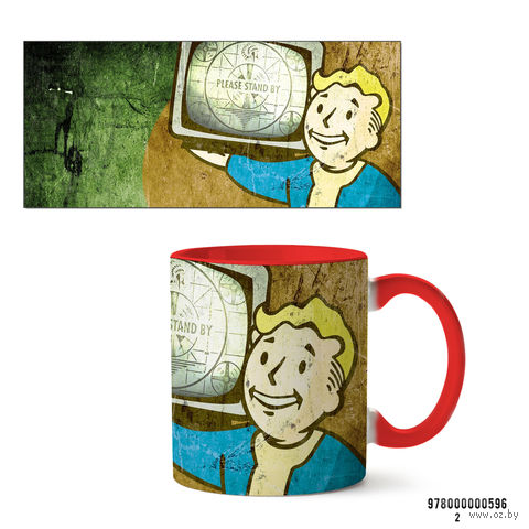 """Кружка """"Fallout"""" (596, красная)"""