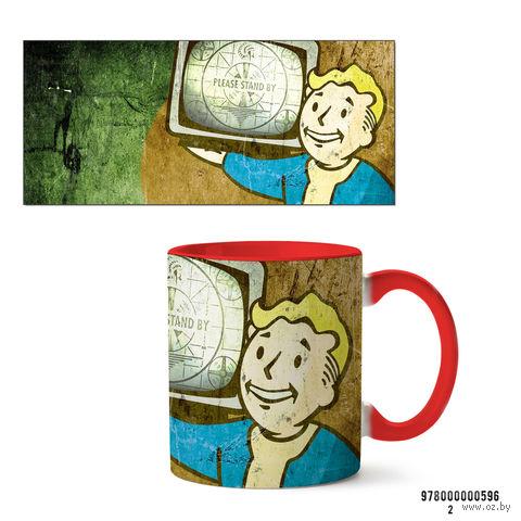"""Кружка """"Fallout"""" (красная; арт. 596) — фото, картинка"""