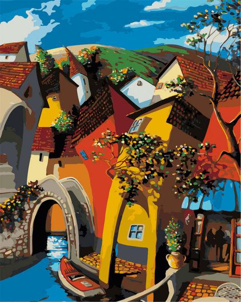 """Картина по номерам """"Мигель Фрейтас. Сказочная Венеция"""" (500х400 мм) — фото, картинка"""