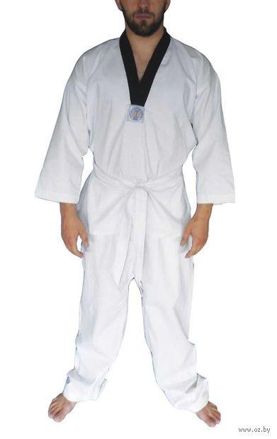 Кимоно для таэквондо ВТФ AX6 (р.48-50/175; белое; с шелкографией) — фото, картинка
