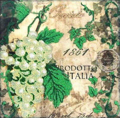 """Вышивка бисером """"Зеленый виноград"""" (300х300 мм) — фото, картинка"""