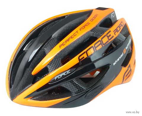 """Шлем велосипедный """"Road"""" (черно-оранжевый; арт. 902602) — фото, картинка"""