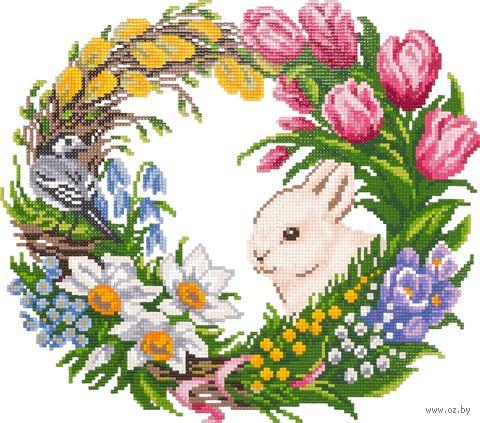"Алмазная вышивка-мозаика ""Цветущая весна"" (340х300 мм) — фото, картинка"
