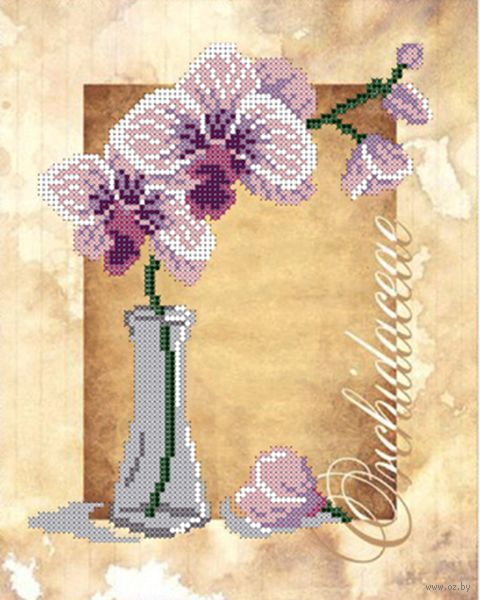 "Вышивка бисером ""Орхидея"" (250х190 мм) — фото, картинка"