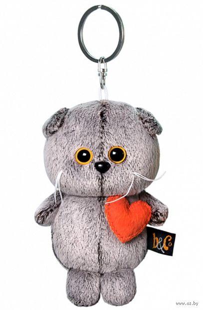 """Мягкая игрушка-брелок """"Кот Басик с сердечком"""" (12 см) — фото, картинка"""