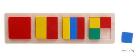 """Деревянная игрушка """"Дроби. Квадраты №2"""" — фото, картинка"""