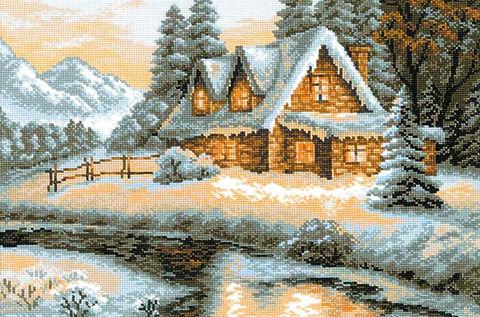 "Вышивка крестом ""Зимний пейзаж"" (арт. 1080)"