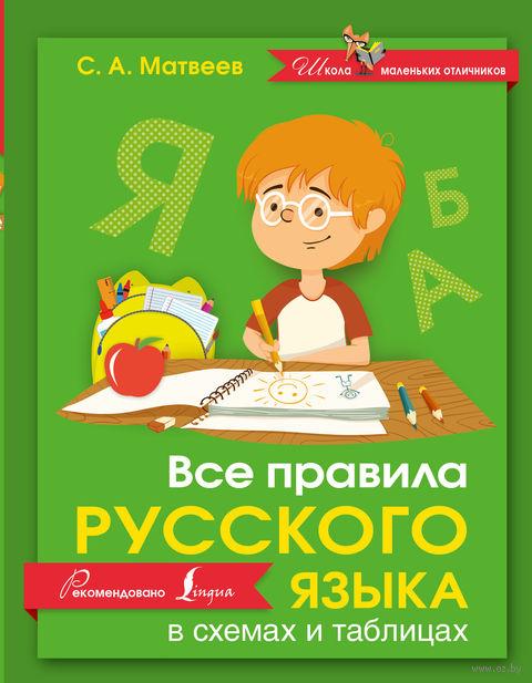 Все правила русского языка в схемах и таблицах. Сергей Матвеев