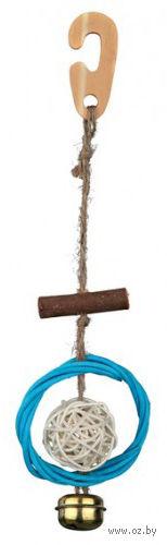 """Игрушка для птиц """"Кольцо с колокольчиком"""" (22 см) — фото, картинка"""