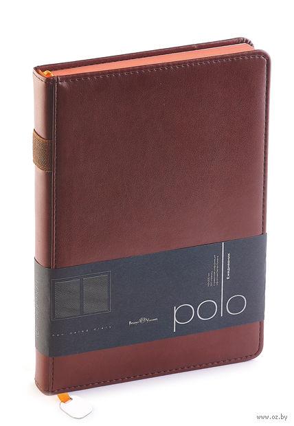 """Ежедневник недатированный """"Polo"""" (A5; коричневый) — фото, картинка"""