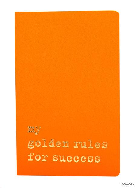 """Записная книжка Молескин """"Volant. My Golden Rules for Success"""" нелинованная (карманная; мягкая оранжевая обложка)"""