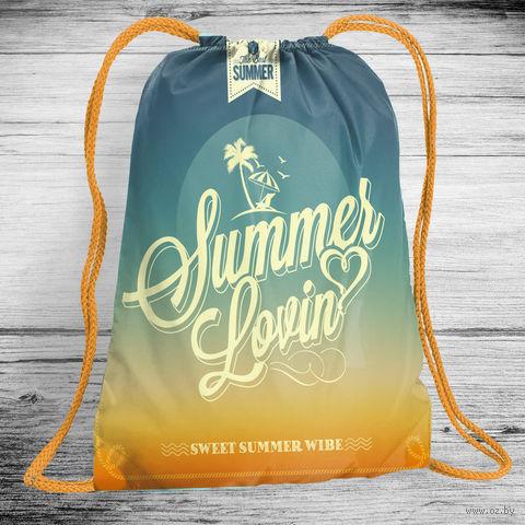 """Рюкзак-мешок """"Летняя влюбленность"""" (арт. 7) — фото, картинка"""