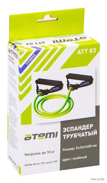 Эспандер трубчатый (зелёный; арт. ATT-03) — фото, картинка