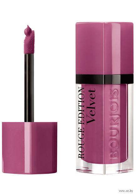 """Помада-флюид для губ """"Rouge edition velvet"""" (тон: 36, розовато-лиловый) — фото, картинка"""