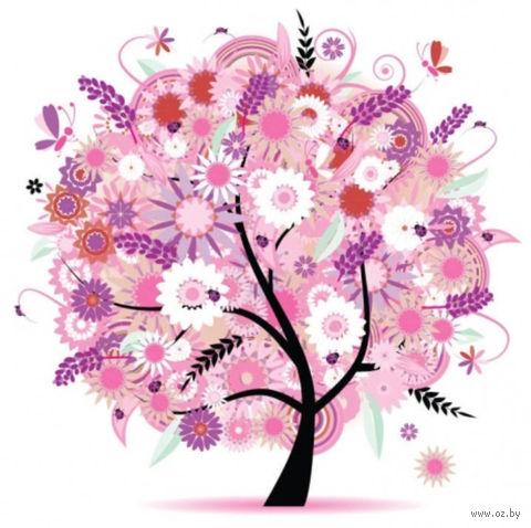 """Алмазная вышивка-мозаика """"Дерево в розовых цветах"""""""