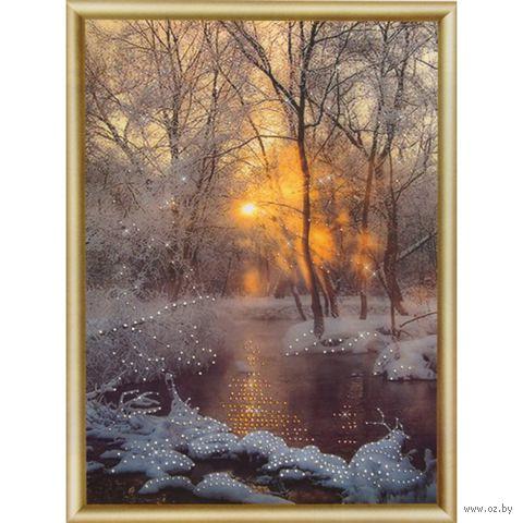 """Алмазная вышивка-мозаика """"Зимний ручей"""""""