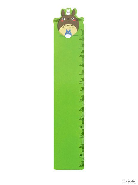 "Закладка-линейка ""Тоторо"" (35х180 мм; зеленая) — фото, картинка"