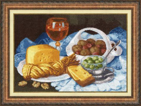 """Вышивка крестом """"Натюрморт с сыром"""" (273х393 мм) — фото, картинка"""