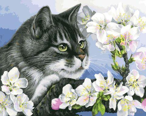 "Картина по номерам ""Яблоневый цвет"" (400х500 мм) — фото, картинка"