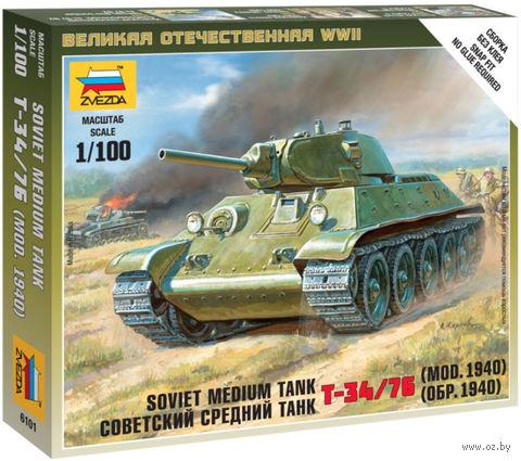 Советский средний танк Т-34/76 обр. 1940 (масштаб: 1/100) — фото, картинка