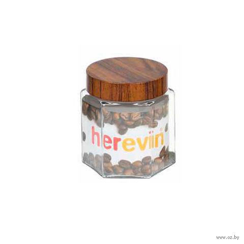 Банка для сыпучих продуктов стеклянная с пластмассовой крышкой (1000 мл; арт. 231910)