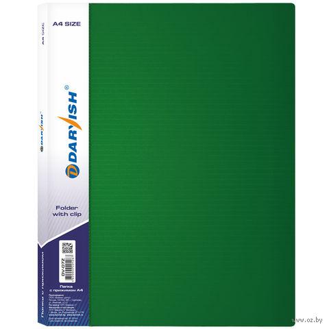"""Папка с зажимом """"Darvish"""" (А4; зеленая; арт. DV-07Z) — фото, картинка"""